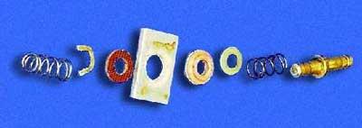 Все детали контактной пластины (расположены в порядке установки их на шток)