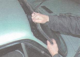 Вытаскивание лобового стекла