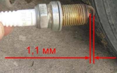 Зазор свечи инжектора ВАЗ
