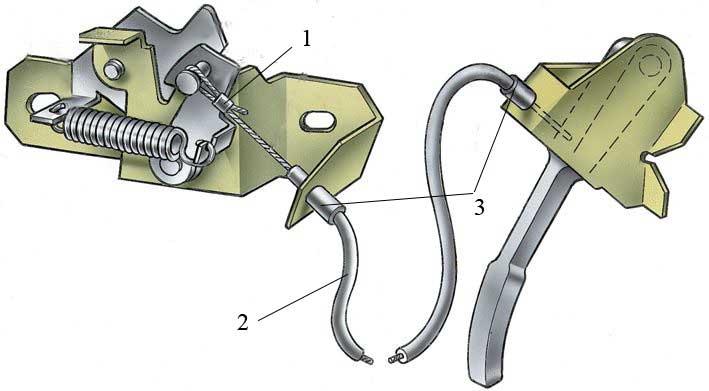 Схема привода замка ваз