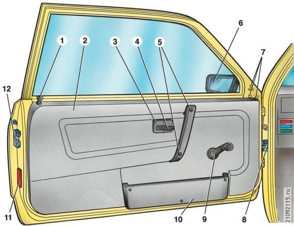 Дверь автомобиля ВАЗ 2109