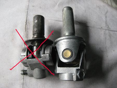 Ваш старый карданчик зачеркнут, на его место ставите тот, что справа (от калины)