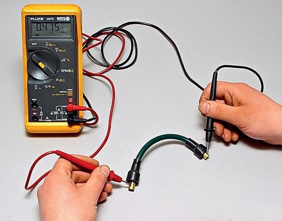 Ваз 2109 провода свечей зажигания, проверка тестером свечного броне провода