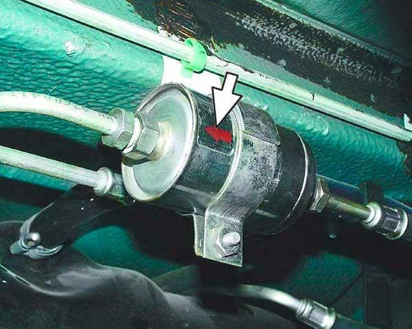 Замена топливного фильтра на ваз 21124: стрелка