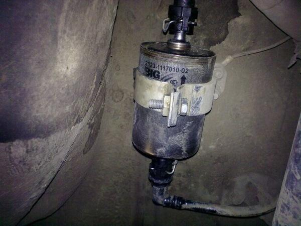 Замена топливного фильтра на вазе 21124