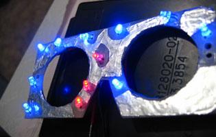 Пластина со светодиодами, которой заменяется световод
