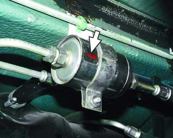 Замена бензинового фильтра ваз 2115 тонкой очистки, стрелка должна совпадать с направлением движения топлива